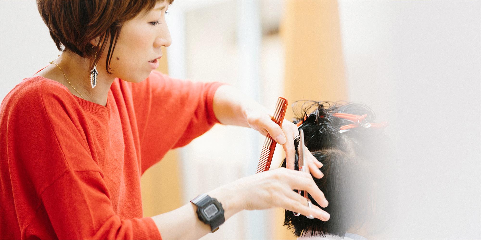 石川県七尾市のヘアサロン「ヘアシーク」店長のヘアカット